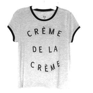 Creme De La Creme Ringer t shirt